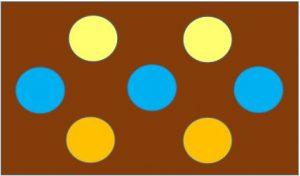 反対色の配色例