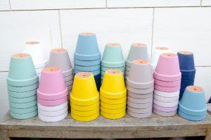カラフルな鉢