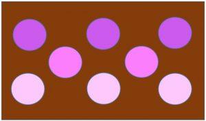 奥行きを出す配色例