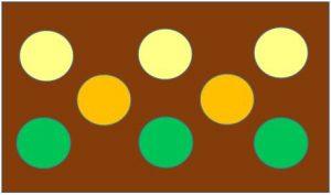 安定したイメージの配色例