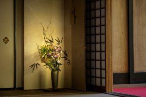 和室空間の生け花