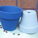 塗装した素焼き鉢