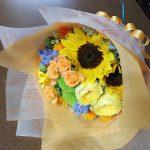 イエローオレンジの花束