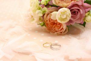 花束とリング